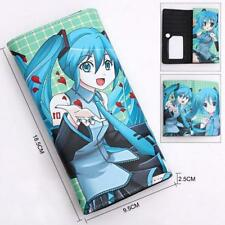 Anime Hatsune Miku Long Rectangle Zipper Printed Leather Wallet Purse Cosplay #3