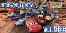 Birthday banner Personalized 4ft x 2 ft  Cars Disney Radiator Springs