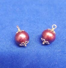 PANDORA 14ct Purple Pearl Earring Drops