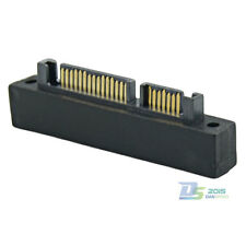 Premium SATA (7+15 Pin) 22Pin Male to SAS Female Jack Angled Adapter for DELL PC