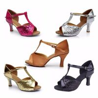 New Women's ladies Ballroom Latin Tango Dance Shoes High Heeled Size 4