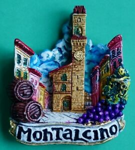 Souvenir Fridge Magnet Montalcino Palazzo Dei Priori Tuscany Italy