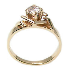 Anillo con diamante solitario de oro amarillo 18 kt. de mujer talla brillante