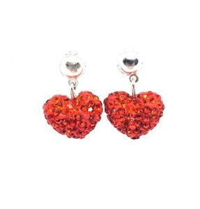 Rhinestone HeartEarrings - Perfect Valentines Day Gift