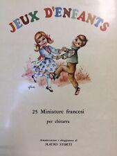 Jeux D'Enfants 25 Miniaturas Francesas para Guitarra - Mauro Storti