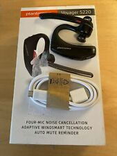 New listing Plantronics Voyager 5200 Premium Wireless Bluetooth Headset w/ Box+Cord *