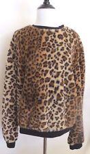 ZARA Brown Black Animal Print  Furry Crop Top  SIZE  M