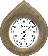 Sauna Thermometer / Hygrometer für Sauna, Holz 160x140