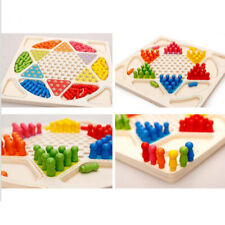 Wooden Chinese Checkers -Made with Wooden Materials-Classic Strategy Game