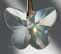 28mm Butterfly Austrian Crystal Clear Prism Pendant SunCather 1 inch