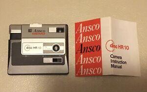 Ansco MEMO Disc HR10 Vintage Compact Pocket Film Camera 12.5mm f/4 lens