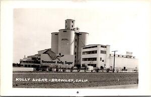 Real Photo Postcard Holly Sugar Factory in Brawley, California~4018