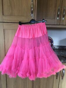 """Lady 50's Underskirt Rock n' Roll Petticoat  TUTU 26"""" approx Rockabilly pink"""