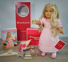 American Girl CAROLINE DOLL + Meet Outfit Accessories Book Blonde Blue Eyes Box