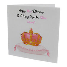 Handmade PERSONALISED Princess Girls / Kids / Childrens Birthday Card