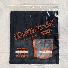 Vtg Levi's Shopping Bag The Hip Pocket Cheyenne Wyoming 70's Unused Denim Jeans
