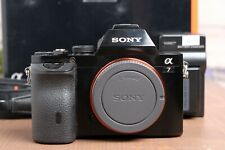 Sony Alpha A7 24.3MP Digital Camera - Black (Body Only) with Charger & Batteries