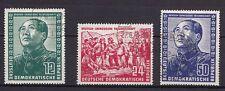 DDR 1951 : Nrn. 286 - 288 o GESTEMPELT Kpl. SATZ DT.-CHINESISCHE FREUNDSCHAFT