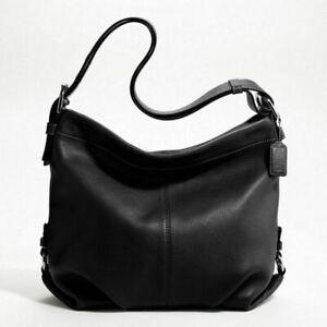 NWT COACH CONVERTIBLE BLACK LEATHER DUFFLE BAG 15064 HANDBAG PURSE SHOULDER HOBO