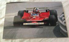 AUTOMOBILISMO FORMULA UNO Cartolina Gilles Villeneuve Montecarlo 1980
