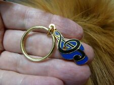 (M331-C) Pick gold blue or red G TREBLE CLEF MUSIC NOTE Black Jewelry KEY RING