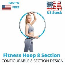 Hula Hoop Adjustable Exercise 8 Parts Fitness Ring Folding Weighted Training