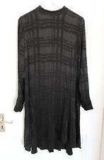 H&M TREND Cupro Blend Black Jacquard Pattern High Neck Dress - UK 14
