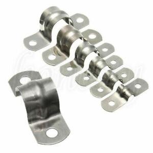 10 Pcs Stainless Steel Plumbing Tube Saddle Pipe Clips Bracket  7 Sizes