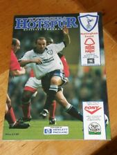 Tottenham v Nottingham Forest Programme March 9 1996 Spurs 5th Rd FA Cup 9-3-96