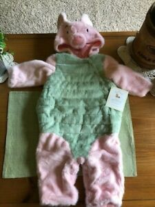 """Pottery Barn Kids Winnie the Pooh """"Piglet"""" Costume Baby Infant 6-12 Months-NEW"""