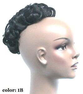 Curly Wiglet, Topper Hair Piece for thinning Crown Top Piece, Pull through