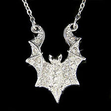 w Swarovski Crystal Halloween Costume ~Night Bat Vampire Spooky Necklace Jewelry