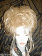 WIG WIGS DRAG QUEEN FASHION STRIKING UPDO BLONDE LONG TENDRILS SEXY SOFT SMOOTH