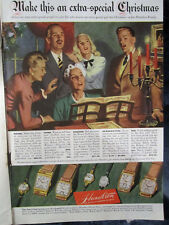 1937 Christmas HAMILTON WATCHES FOR ENTIRE FAMILY WITH PRICES Litho Sign Ad