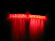 2 Universal RED LED Rear Marker Brake Tail Lights Motorcycle Street Cycle V Rod
