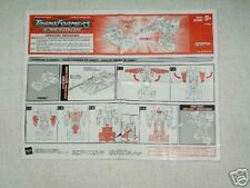 Transformers Energon Prowl instructions C9