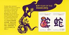 Christmas Island New Year - Snake 2013 SG MS 747