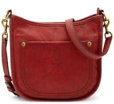 $348 NWT Frye Campus Rivet Leather Crossbody Saddle Handbag Burnt Red