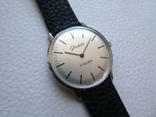 Beautiful Elegant Rare Vintage GLASHUTTE Men's dress watch from 1980's years!