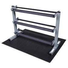 Body-Solid 3 Tier Horizontal Dumbbell Rack GDR363- Gym Storage Fitness Equipment