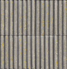 ! 4 SHEETS MATT VINYL  SELFADHESIVE iron 1/43 scale corrugated roof  n7
