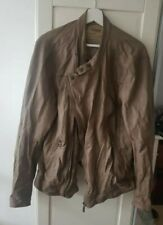 2013 Oakwood Beige Leather Jacket XXL rare supreme vintage light weight