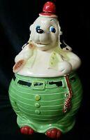 Vintage Hound Dog Hunter Cookie Jar made in Japan no chips or cracks
