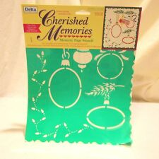 Delta Cherished Memories Memory Page Stencil Holiday Glow
