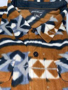 NEW Eddie Bauer Mens Flannel Shirt XXL Soft Warm Toffee Brown Gray Black NWT $80