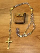 Vintage Rosary Crystal Lourdes gold plated