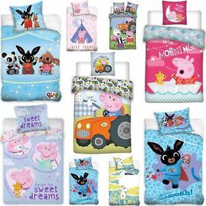 Kinderbettwäsche Peppa Wutz Hase Bing Moomin Peppa Pig 100x135 + 40x60 Rosa Blau