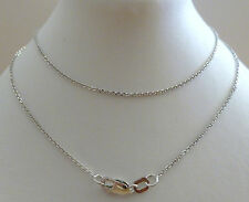 9ct Solid White Gold Belcher Fine Chain Necklace - 45cm's 18 Inches N52