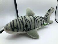 Wild Republic Grey Tiger Shark Fish Plush Kids Soft Stuffed Toy Animal Doll