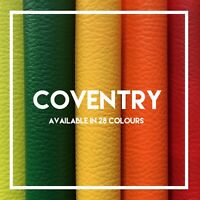 COVENTRY | PVC Leatherette | Faux Leather | Vinyl | Available in 29 Colours